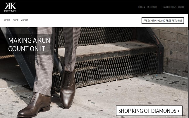 Shopify Website - Pair Of Kings Shoes